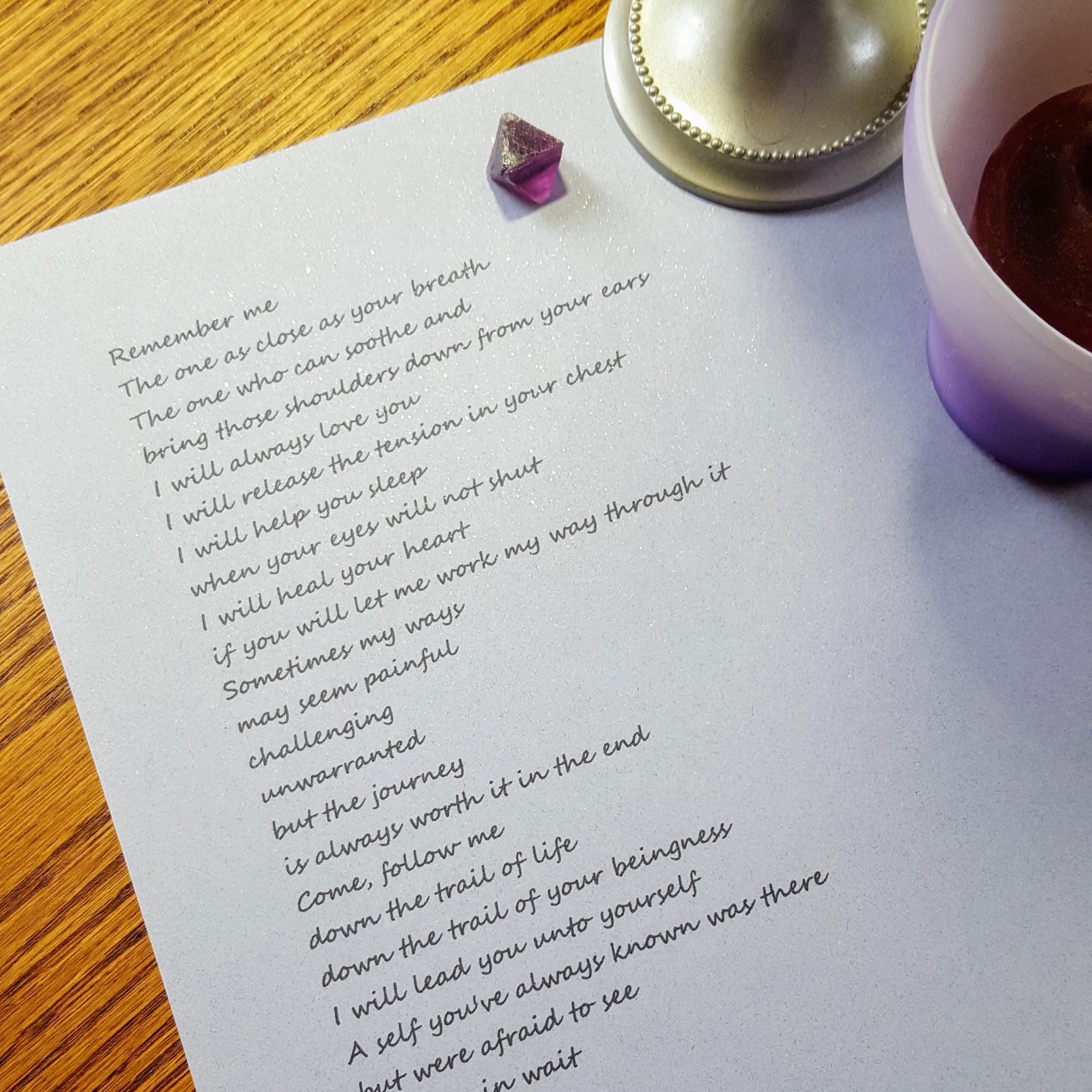 Write poetry